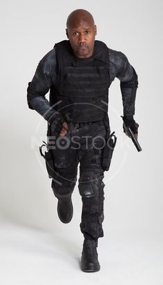 Male African American, Tactical Assassin / Soldier Stock Photography