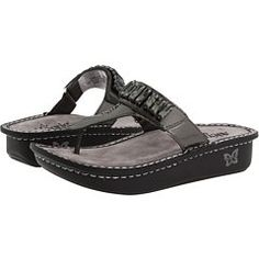 Alegria Womens Carina Thong Sandal Dayna Chrome Patent 35 ** To view further for this item, visit the image link.