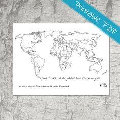 """I haven't been everywhere but it's on my list"" https://www.etsy.com/nl/listing/490671700/kaart-van-de-wereld-planner-stickers"