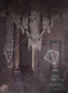 """Euryale | Sidis Hominis exanimis"" [Genius Loci - slab3/5] 2016 © [Mazareno] ominimedial-digitalfrottage-photomanipulation [proportions 1,37:1] #mixmedia #photomanipulation #glitch #photography #drawing #graphic #painting #digitalart #omnimedia #inkjet #fresco #esotericism #mythology #symbolism  #abandoned #geniusloci #Lascaux #Sanmartino #Dionysus #initiation #ritual #epos #noumenon #phenomenon #science #astrology #Mediterranean #labyrinth #cave #arcane #beast #man #god #soul #love #art"