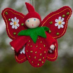 Felt Christmas Decorations, Felt Christmas Ornaments, Handmade Christmas, Felt Crafts Patterns, Felt Crafts Diy, Felt Fairy, Ornament Crafts, Felt Dolls, Felt Flowers
