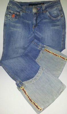 "Rare Women's Long  Roca Wear Jeans w/ Roca Details 31.5"" Inseam Waist-Band 32"" #RocaWear #StraightLeg"