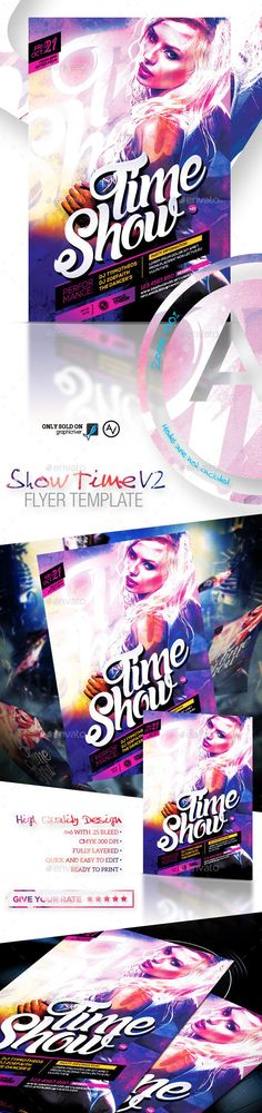 Show Time Flyer Template V2