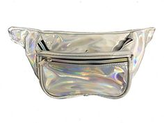 BAM Fanny Pack Waist Bands 80s 90s Style Fashion Silver Hologram *** For more information, visit image link. (Note:Amazon affiliate link)