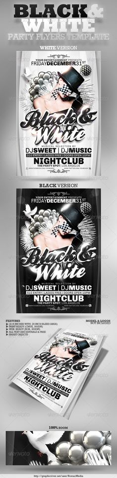Black and White Party Flnknnkyers
