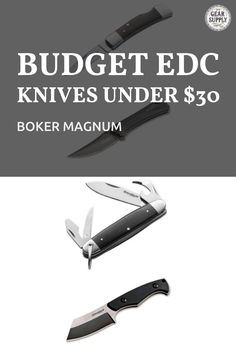 The best Boker Magnum budget EDC knives under $30! Add these affordable Boker Magnum pocket knives to your urban everyday carry gear. Take advantage of these money-saving deals on everyday carry premium utility knives while supplies last! Explore top-rated budget-friendly compact lightweight knives and other essential EDC gear at cheap prices from Gear Supply Company. #everydaycarry #edcknives #pocketknives #urbaneverydaycarry Urban Carry, Urban Edc, Edc Fixed Blade Knife, Edc Knife, Edc Carry, Carry On, What Is Edc, Prepper Supplies, Edc Essentials