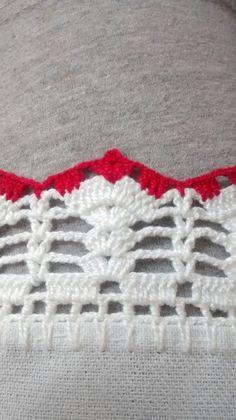 Crochet Edging Patterns, Crochet Lace Edging, Crochet Borders, Crochet Doilies, Crochet Flowers, Knit Crochet, Crochet Crafts, Crochet Projects, Sewing Crafts