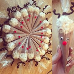 """10 Likes, 1 Comments - Sweet Trees Birmingham (@sweettreesbirmingham) on Instagram: """"How cute are these Rudolph hot chocolate cones ❤️ filled with Cadburys hot chocolate and Haribo…"""""""