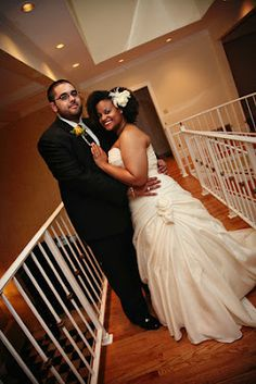 Beautiful couple . . . and a gorgeous, natural-haired bride!