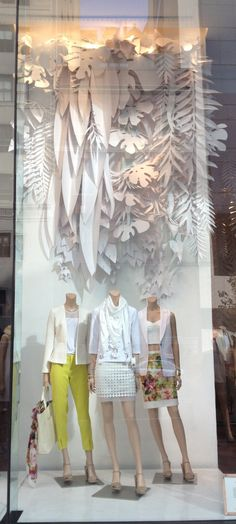 Plain Paper installation idea:: Club Monaco | NYC Spring 2013. #retail #merchandising #windowdisplay