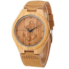 Cool Watches: Hot Offer Lost At Sea Anchor Wood watch 2018 Hot Sell Men Women Fashion Wooden Watches with Genuine Leather Luxury Quartz WristWatch Gifts Cool Watches, Watches For Men, Men's Watches, Anchor Watch, Bracelet Cuir, Wooden Watch, Fashion Watches, Leather Men, Casual