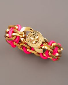 MARC by Marc Jacobs Fluoro Turnlock Bracelet from Neiman Marcus at 150 WORTH.