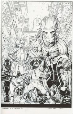 Arthur Adams - Guardians of Galaxy #1 (2015) Cover