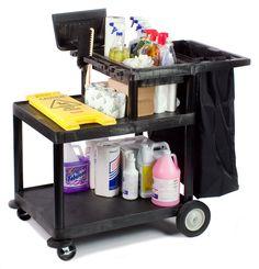 Janitor Carts with Nylon Bag