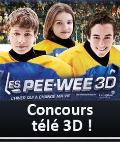 Téléviseur 3D, iPad et plus avec Les Pee-Wee 3D
