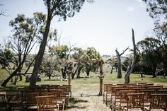 Australian farm wedding ceremony