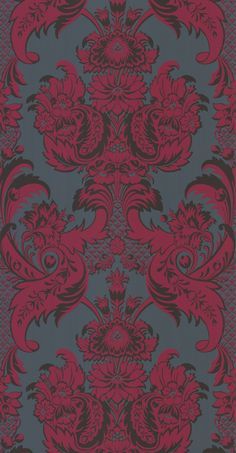 Albemarle Wyndham wallpaper in Red and Gold by Cole & Son (mahoneswallpapershop.com)