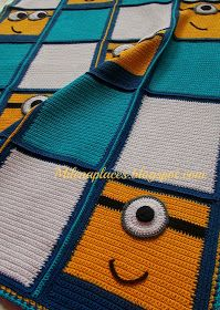 My places: Child's crochet Minions #Blanket #Afghan for #charity, updated
