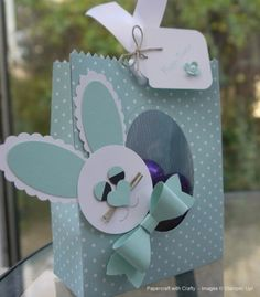 Easter Bunny Treat Bag with acetate window.