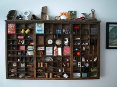 Letterpress Drawer Display: Creative way to display little collections!