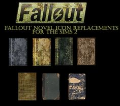 I have created default replacement books for the Sims 2 using the textures from Fallout You're more than welcome to convert them to any of the other games and beat me to it. THESE ARE A DEFAULT. Sims Games, Fallout 3, Sims 2, Post Apocalyptic, Skyrim, Novels, Texture, Books, Surface Finish