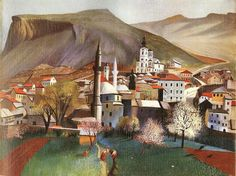 Tivadar Kosztka Csontváry Hungarian Painter - Springtime in Mostar Spanish Artists, Dutch Artists, Galerie D'art, Mystique, Art Database, Art Moderne, Italian Artist, Illustrations, Figure Painting