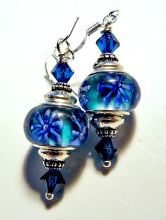Lampwork earrings.