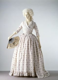 In the 1770s and 1780s printed cotton fabrics began to replace silk in popularity for women's gowns. Description from pinterest.com. I searched for this on bing.com/images