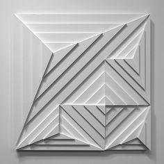 2018 Series - SHADOVVS - mwm_graphics | ello Geometric Sculpture, Geometric Art, Wooden Wall Art, Wood Art, Tile Design, Design Art, Abstract Pencil Drawings, Feature Wall Design, Blueprint Art