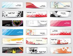 Simple and Modern Vector banner designs - Free download!