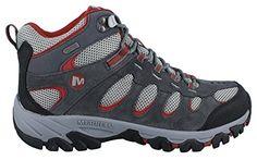 Hiking Shoes Merrell Ridgepass Mens Walking Trainers Black