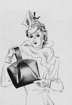 1937 Vintage Purses, Vintage Bags, 1930s, Handbags, Classic, Accessories, Art, Vintage Handbags, Craft Art