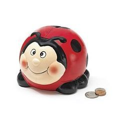 A ladybug piggy bank.  Your favourite piggy banks: http://www.helpmetosave.com/2012/02/piggy-bank/