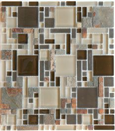 """Luxe Rustic Mosaic 12"""""""" x 10.35"""""""""""