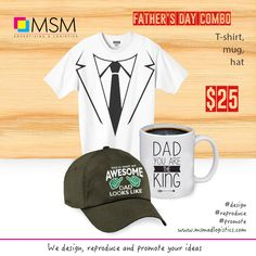 This year, surprise the fathers, relatives, and wonderful male role models in your family with the best gift! Our father's Day Combo! A shirt, a hat and a mug with positive messages. This gift will be surely treasure. #bestdad #giftforfather #dad #papa #ceramicmug#msmadlogistics #graphicdesign #webdesign #printing #advertising#banner #stationery #apparel #photography #vinyl #banner #signs#wrapping #decals #digitalart #branding #promotional #professional#service