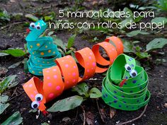 This cardboard tube coiled snakes craft is a great way to teach kids the importance of recycling all while feeding their creative minds. Kids Crafts, Craft Activities For Kids, Projects For Kids, Craft Projects, Arts And Crafts, Craft Ideas, Easy Crafts, Cardboard Tube Crafts, Toilet Paper Roll Crafts