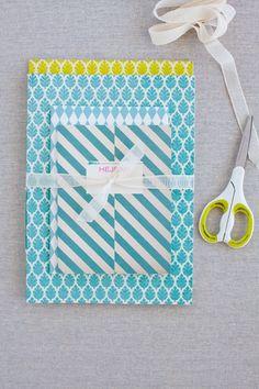 patterned notebooks