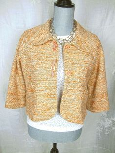Anthropologie Elevenses Jacket 6 Swing Top Coat White Tan Orange Tweed S M #Elevenses #BasicJacket#anthropoligie#anthropologieforsale#anthropologiestyleresale#dressitup#socute#adorable#jacket#elevenses#fashion#trend#coat#style#everyday#casual#summer#sale#backtoschool#deal