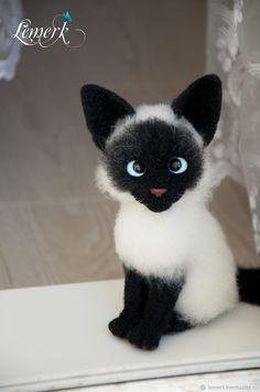 Лексус. Валяный сиамский котенок – купить в интернет-магазине на Ярмарке Мастеров с доставкой