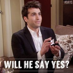 #WilSon #DAYS - Oh Will better!!!  Except, I wish they did this as Chandler Massey's last scenes instead of a week prior.