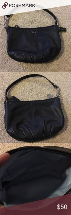 ⚡️FLASH SALE⚡️Authentic Coach Leather Bag Small black leather handbag with cute feminine details. Excellent condition. Like new. Clean interior. Coach Bags
