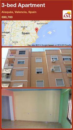 3-bed Apartment in Alaquàs, Valencia, Spain ►€80,700 #PropertyForSaleInSpain