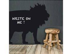 Ultra grote krijtsticker leeuw voor op de muur maar ook voor andere gladde ondergronden, zoals deuren en meubels. Plakt eigenlijk op alles en is makkelijk te verwijderen. Leuk en handig als notitiebord in de hal, keuken of kinderkamer. van Sooo.nl