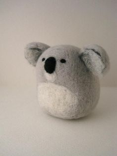 Felted Koala Bear Idea.