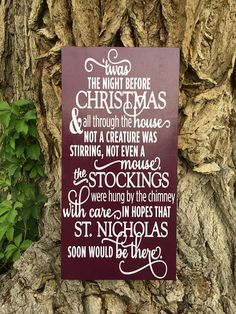 Twas The Night Before Christmas Sign, Christmas De…