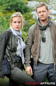 Annie & McQuaid, TONIGHT on an all-new episode of Covert Affairs (also love this look for Fall : )