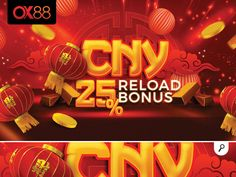 banner cny reload bonus 1200x715 by n2n44 on Dribbble Chines New Year, Banner, Neon Signs, Creative, Projects, Chocolate, Banner Stands, Log Projects, Blue Prints