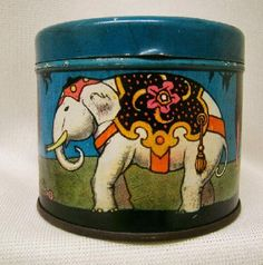 Vintage Candies Tin Dairy Maid  Circus Animals