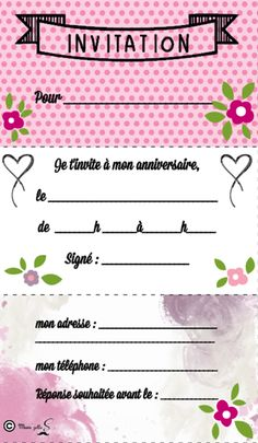 Top carte-invitation-anniversaire-enfant-gratuite | Pinata ideas  CZ09