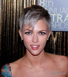 Ruby Rose, I am going to go a bit shorter with the next hair cut, perfect and fun for summer!